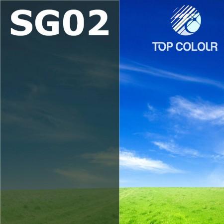 Glue tinted window film SLATE GREEN 2% - Tinted sun control film SG02