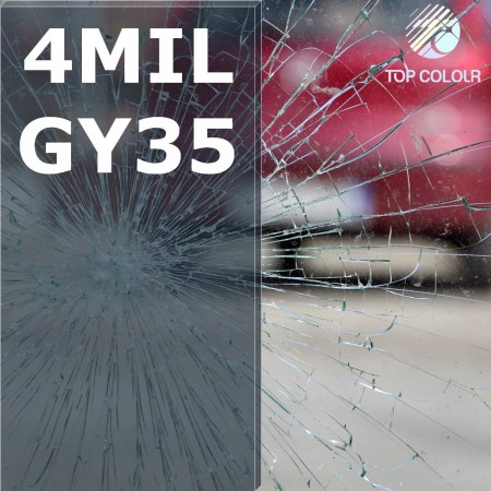 Safety window film SRCGY35-4MIL - Safety window film SRCGY35-4MIL
