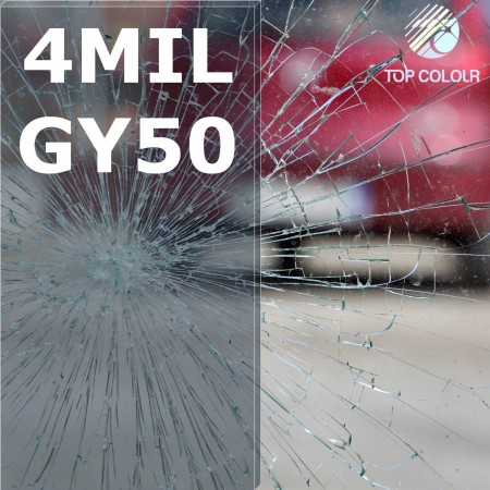 Safety window film SRCGY50-4MIL - Safety window film SRCGY50-4MIL