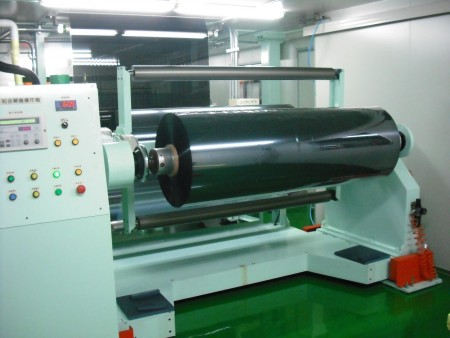 Window film roll machine
