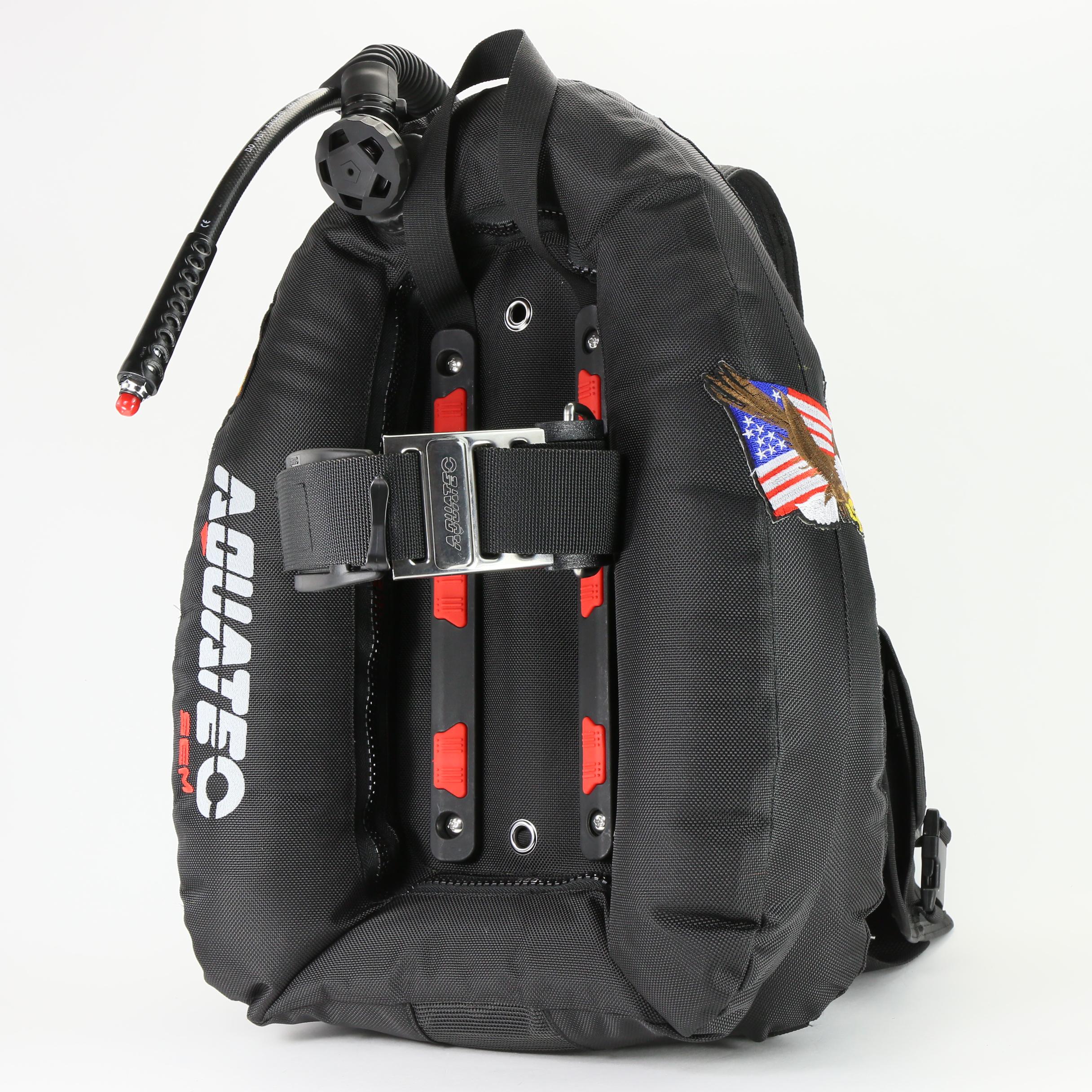 Aquatec comfort harness mono ocean wing package - Пружинные крылья (BK / RD)