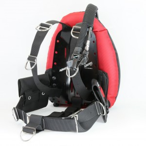 Aquatec comfort harness singles package - Performan dount wings (BK/RD)