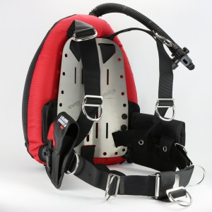 Aquatec comfort harness ocean wing package - Performan dount wings (BK/RD)