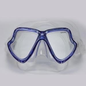 MK-400 (BL) Double masque en verre trempé pour masque de Plongée