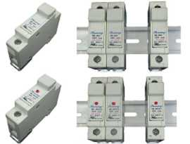 Fuse Holders - Din Rail Mounted 10x38 Cartridge 32A Fuse Holders