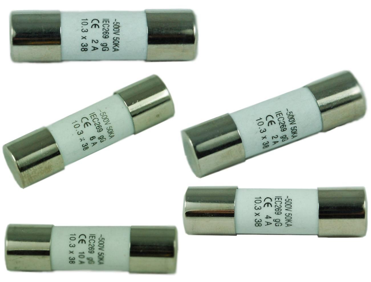 F-1038C-XX系列 500V 10x38 陶瓷管保險絲 - F-1038C-XX系列 500V 10x38 陶瓷管保險絲