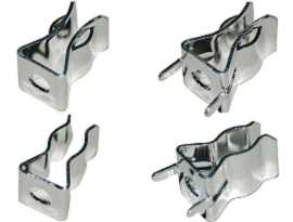 FC-4063BNXX Series Fuse Clips - FC-4063BNXX Series 250V 10A 6X30mm Brass Fuse Clips (Nickel Plating)