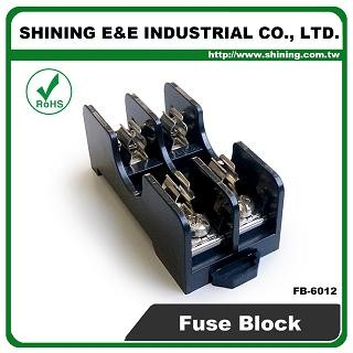 FB-6012 For 6x30mm Fuse Din Rail Mounted 600V 15A 2 Pin Fuse Box
