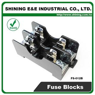 FS-012B For 6x30mm Fuse Din Rail Mounted 600V 10A 2 Way Fuse Block