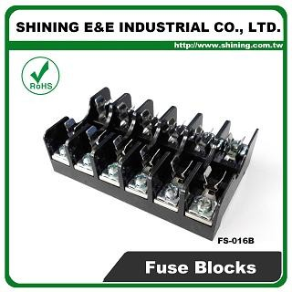 FS-016B For 6x30mm Fuse Din Rail Mounted 600V 10A 6 Way Fuse Block