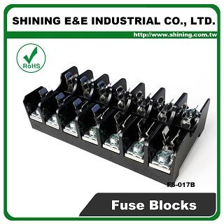 FS-017B For 6x30mm Fuse Din Rail Mounted 600V 10A 7 Way Fuse Block