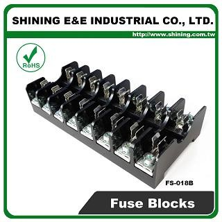 FS-018B For 6x30mm Fuse Din Rail Mounted 600V 10A 8 Way Fuse Block