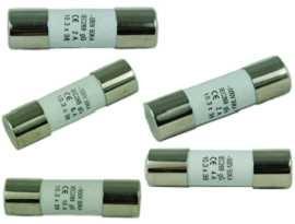 F-1038C-XX 10х38мм 500V керамични предпазители - SHINING-F-01038C Серия 10x38mm 500V закъснение на керамичната тръба предпазител