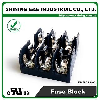 FB-M033SQ For 10x38mm Fuse 600V 30 Amp 3 Position Midget Fuse Block