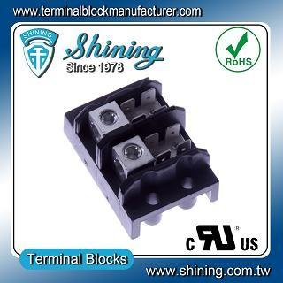TGP-050-02A 600V 50A 2 Pole Electrical Power Terminal Block - TGP-050-02A Power Terminal Block