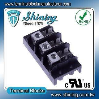 TGP-050-03A 600V 50A 3 Pole Electrical Power Terminal Block - TGP-050-03A Power Terminal Block