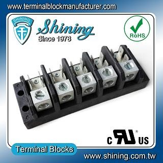 TGP-050-05A1 600V 50A 5 Pole Electrical Power Terminal Block - TGP-050-05A1 Power Terminal Block