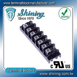 TGP-050-07A 600V 50A 7 Pole Electrical Power Terminal Block - TGP-050-07A Power Terminal Block