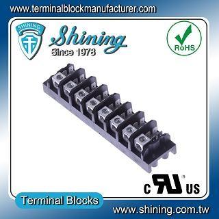 TGP-050-08A 600V 50A 8 Pole Electrical Power Terminal Block - TGP-050-08A Power Terminal Block