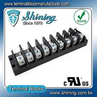 TGP-050-09A 600V 50A 9 Pole Electrical Power Terminal Block - TGP-050-09A Power Terminal Block