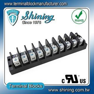 TGP-050-10A 600V 50A 10 Pole Electrical Power Terminal Block - TGP-050-10A Power Terminal Block