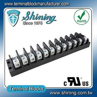 TGP-050-12A 600V 50A 12 Pole Electrical Power Terminal Block - TGP-050-12A Power Terminal Block