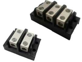 TGP-085-XXBHH Electrical Power Splicer Terminal Blocks - TGP-085-02BHH & TGP-085-03BHH Power Splicer Blocks