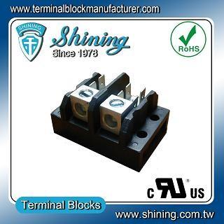 TGP-085-02A1 600V 85A 2 Pole Electrical Power Terminal Block - TGP-085-02A1 Power Terminal Block