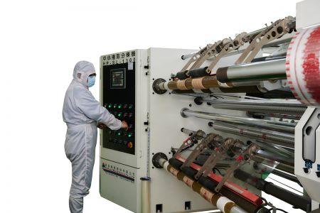 大尺寸薄膜分條設備及class 1000 & class 10000等級無塵室