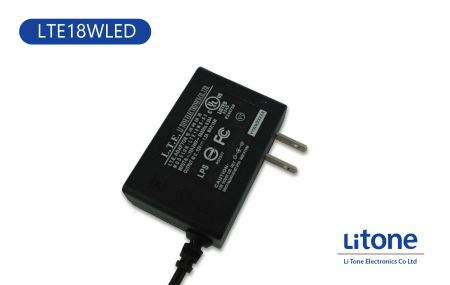 18WLED AC to DC Switching Wall Mount Type Adaptor - 18WLED AC to DC Switching Wall Mount Type Adaptor