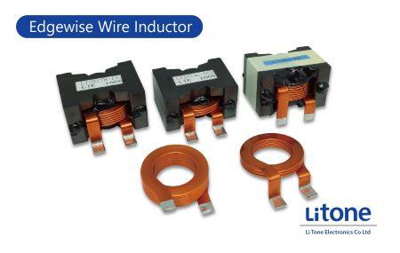 Inductor de cable Edgewise - Inductor de alta corriente con cable plano en tipo PQ