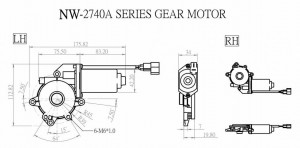 Window Motor - NW-2740A - NW-2740A