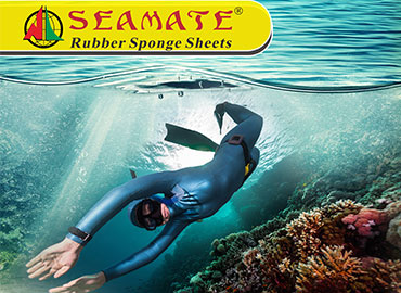 消費用橡膠海綿 (Neoprene, SBR發泡材, TPE發泡材) - Neoprene 氯丁橡膠海綿潛水衣料貼合品,具有防水、保暖、緩衝等效果,除了潛水衣外,亦常見於獵魚衣、三鐵衣、鞋子 、包袋、護具…等產品。