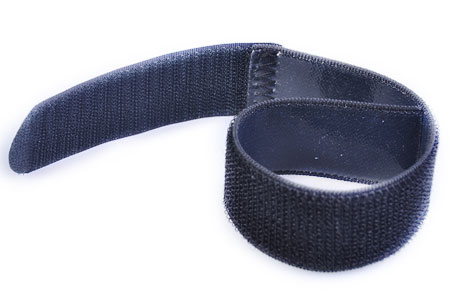 Sewn strap with silicone backing.