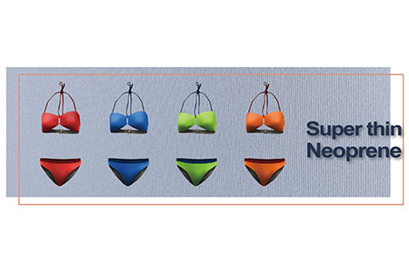 Swimsuit made by Super thin neoprene.