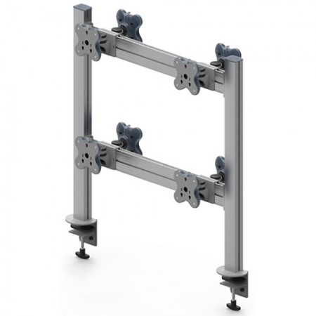 Tool Bar Back to Back System (EGTB) - Eight Monitor Arms EGTB-8024D / 8024DG