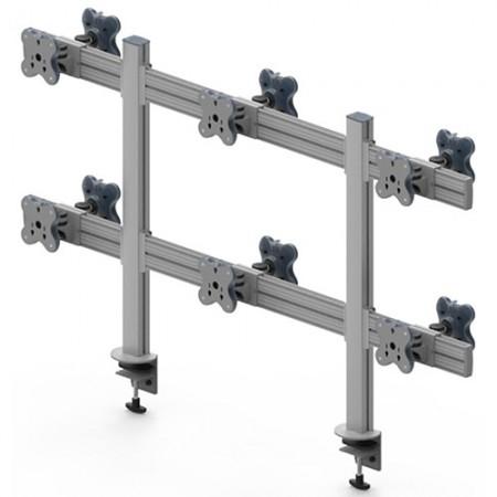 Tool Bar Back to Back System (EGTB) - Twelve Monitor Arms EGTB-8026D / 8026DG