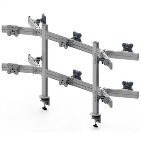 Tool Bar Back to Back System (EGTB) - Twelve Monitor Arms EGTB-8026DW / 8026DWG
