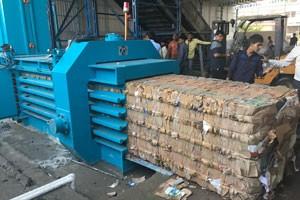TB-1011全自动废纸压缩捆包机