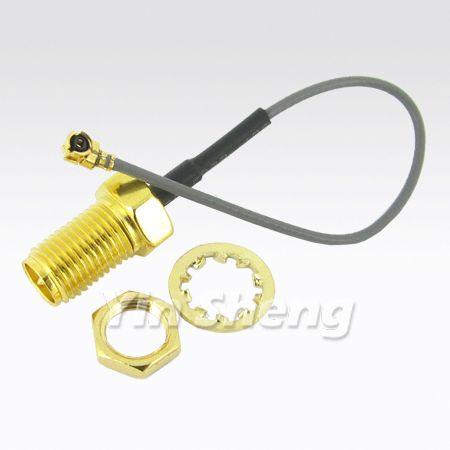MHF Plug To R/P SMA Bulkhead Jack With RG178 Cable - MHF Plug To R/P SMA Bulkhead Jack With RG178 Cable