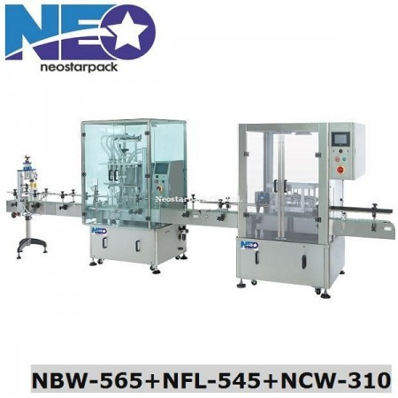 Bottle Rinsing and Filling Machine Line