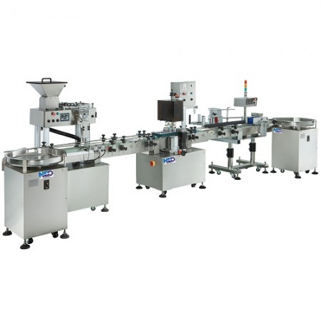 Automatic Capsule Counting Filling And Labeling Line