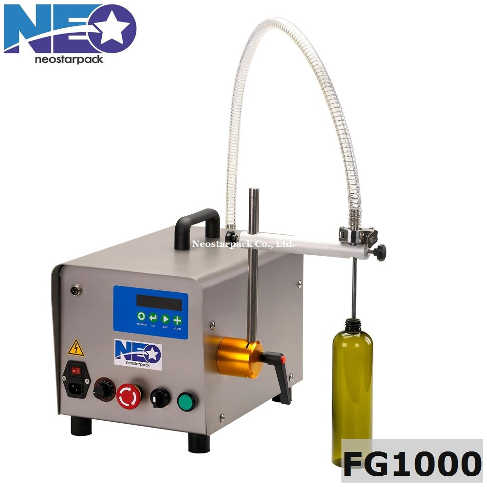 tabletop gear pump liquid filler,semi-automatic filling machine