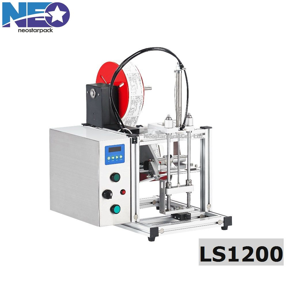 Tabletop tamp labeling machine