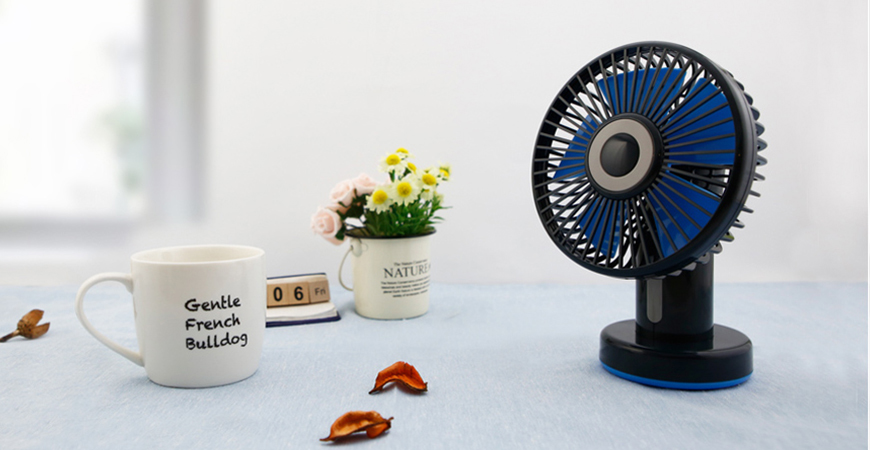 LIVION's table fan provides you with enduring coolness whenever you need it