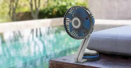TC-068S 3-Speed Table Fan USB/Battery Powered - 3-Speed Table Fan USB/Battery Powered TC-068S