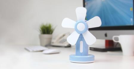 TC-055 Soft Blade Table Fan USB/Battery Powered - Soft Blade Table Fan USB/Battery Powered TC-055