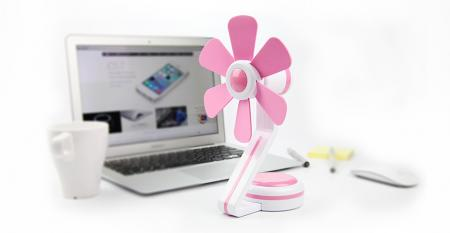 TC-066 Soft Blade Table Fan USB/Battery Powered - Soft Blade Table Fan USB/Battery Powered TC-066