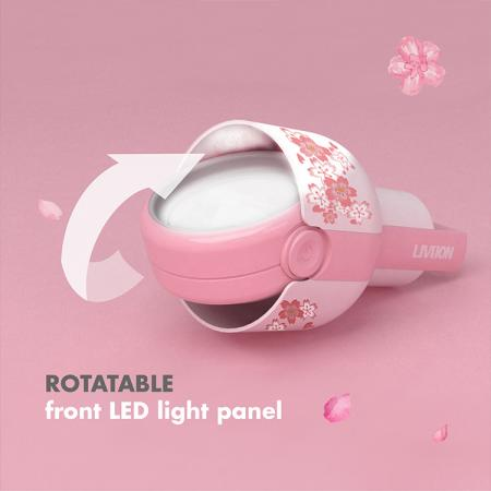 Rotatable front light panel