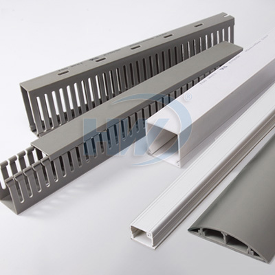 Slotted/solid wiring ducts, Round type wiring ducts, telephone wiring ducts